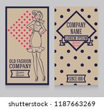 two cards in retro american...   Shutterstock .eps vector #1187663269