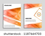 abstract brochure design.flyer... | Shutterstock .eps vector #1187664703