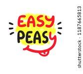 easy peasy   inspire and... | Shutterstock .eps vector #1187665813