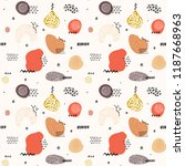 vector seamless pattern with... | Shutterstock .eps vector #1187668963