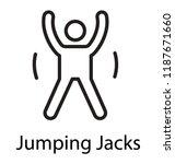 fitness man doing jumping jack... | Shutterstock .eps vector #1187671660