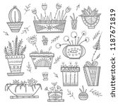 flower pots and house plants... | Shutterstock .eps vector #1187671819