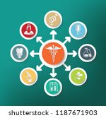 medical and health care vector... | Shutterstock .eps vector #1187671903