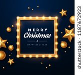 christmas background. retro... | Shutterstock .eps vector #1187672923