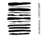 brush grunge strokes set.... | Shutterstock .eps vector #1187673889