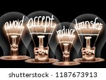 photo of light bulbs with... | Shutterstock . vector #1187673913