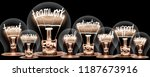 photo of light bulbs group with ... | Shutterstock . vector #1187673916