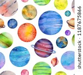 seamless pattern with colorful... | Shutterstock . vector #1187675866