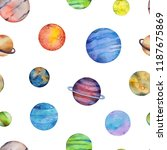 seamless pattern with colorful... | Shutterstock . vector #1187675869