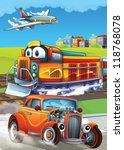 the hot rod   the train   and... | Shutterstock . vector #118768078