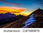 sunset mountain hill...   Shutterstock . vector #1187680870