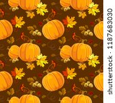 Seamless Autumn Pattern Vector...