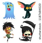 set of halloween characters.... | Shutterstock .eps vector #1187684020
