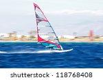 one windsurfer in egypt  dahab  ... | Shutterstock . vector #118768408