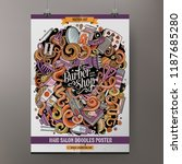 cartoon hand drawn doodles...   Shutterstock .eps vector #1187685280