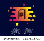 copy documents line icon.... | Shutterstock .eps vector #1187685730