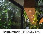 decoration idea of wooden... | Shutterstock . vector #1187687176