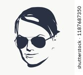portrait of beautiful woman in... | Shutterstock .eps vector #1187687350