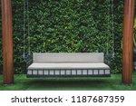 decoration outdoor sofa swing... | Shutterstock . vector #1187687359