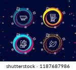 set of mint bag  dry cappuccino ... | Shutterstock .eps vector #1187687986
