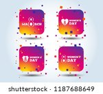 8 march women's day icons.... | Shutterstock .eps vector #1187688649