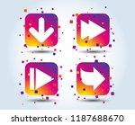 arrow icons. next navigation... | Shutterstock .eps vector #1187688670