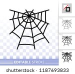 spider web thin line icon.... | Shutterstock .eps vector #1187693833