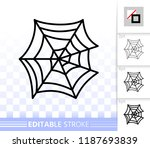 spider web thin line icon.... | Shutterstock .eps vector #1187693839