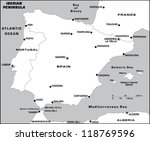 iberian peninsula | Shutterstock .eps vector #118769596