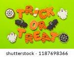 halloween concept with cookies   Shutterstock . vector #1187698366