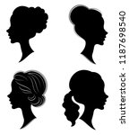 collection. silhouette of a... | Shutterstock .eps vector #1187698540