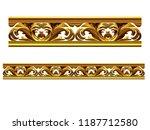 golden  ornamental segment  ... | Shutterstock . vector #1187712580
