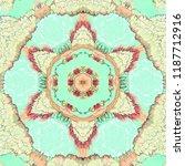 Turquoise Mandala With Roses...