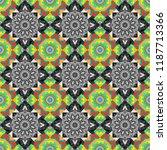 colorful flower seamless... | Shutterstock .eps vector #1187713366