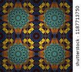 colorful flower seamless... | Shutterstock .eps vector #1187713750