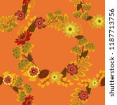 liberty style. floral seamless... | Shutterstock .eps vector #1187713756