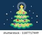 christmas tree decoration... | Shutterstock .eps vector #1187717449
