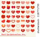 Vector Set  Heart And Love...