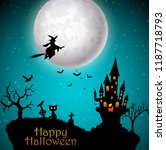 scary house with halloween... | Shutterstock .eps vector #1187718793