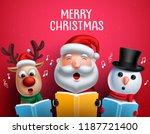 christmas vector characters... | Shutterstock .eps vector #1187721400