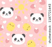 cute panda seamless pattern... | Shutterstock .eps vector #1187721643