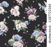 seamless floral pattern with... | Shutterstock .eps vector #1187722360