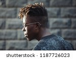 african rapper man with... | Shutterstock . vector #1187726023