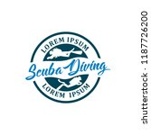 diving logo template | Shutterstock .eps vector #1187726200