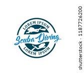 diving logo template | Shutterstock .eps vector #1187726200