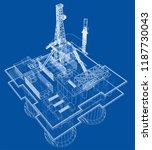 offshore oil rig drilling...   Shutterstock .eps vector #1187730043