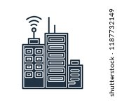 building with antenna icon... | Shutterstock .eps vector #1187732149
