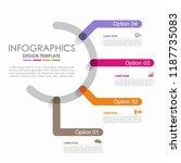 infographic design template... | Shutterstock .eps vector #1187735083