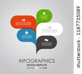 infographic design template... | Shutterstock .eps vector #1187735089