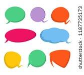 colorful comic speech bubble set   Shutterstock .eps vector #1187735173